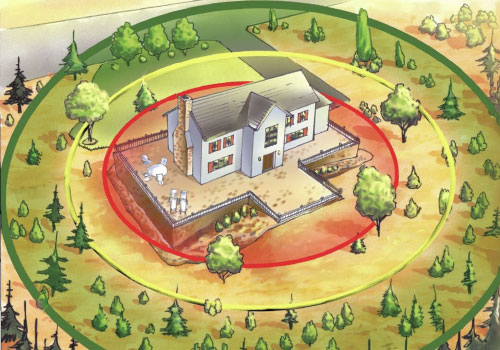 Mammoth Fire defensible space
